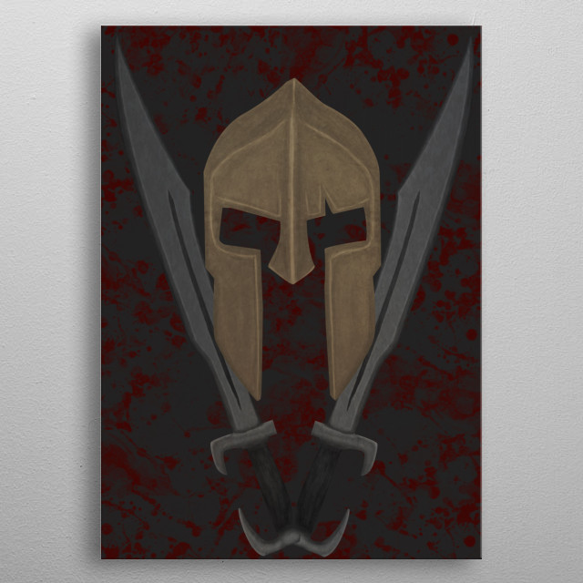 The Spartan 4 metal poster