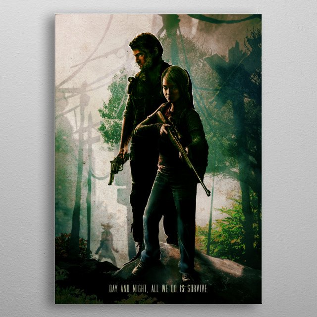 Survive metal poster