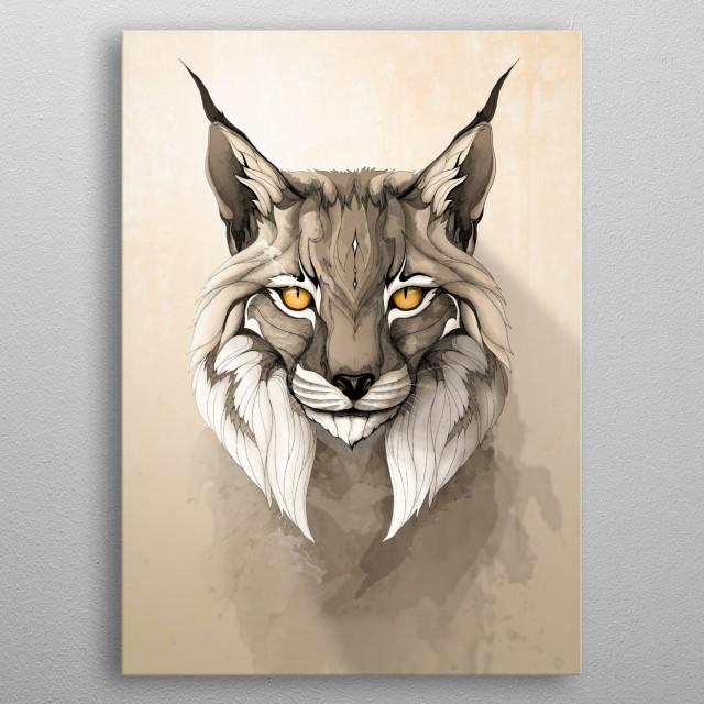 Lynx metal poster