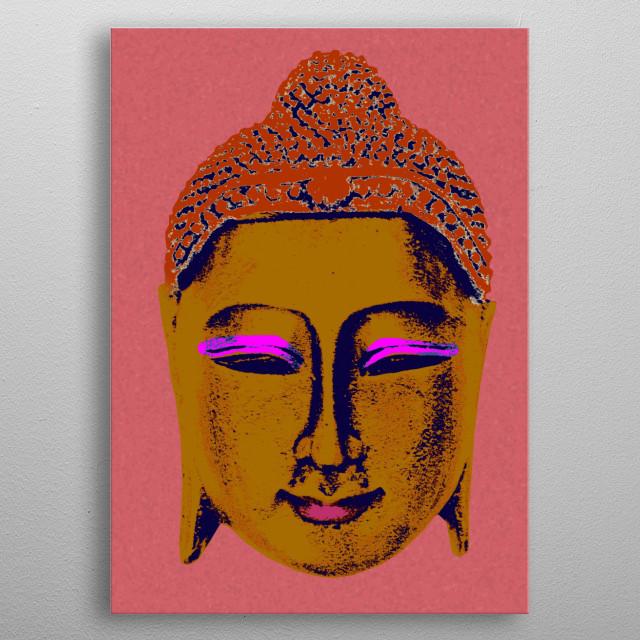 Brown Buddha metal poster