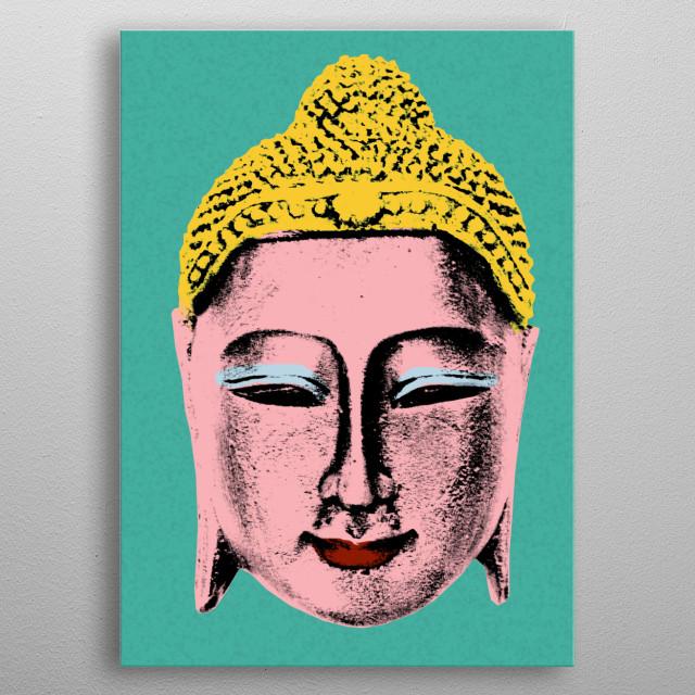 Pink Buddha metal poster