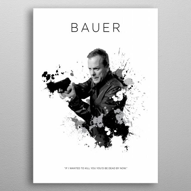 Jack Bauer metal poster