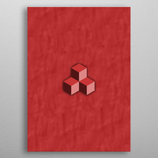 3 Cubes metal poster
