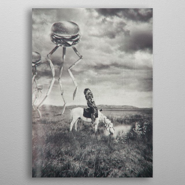 War of the Worlds metal poster