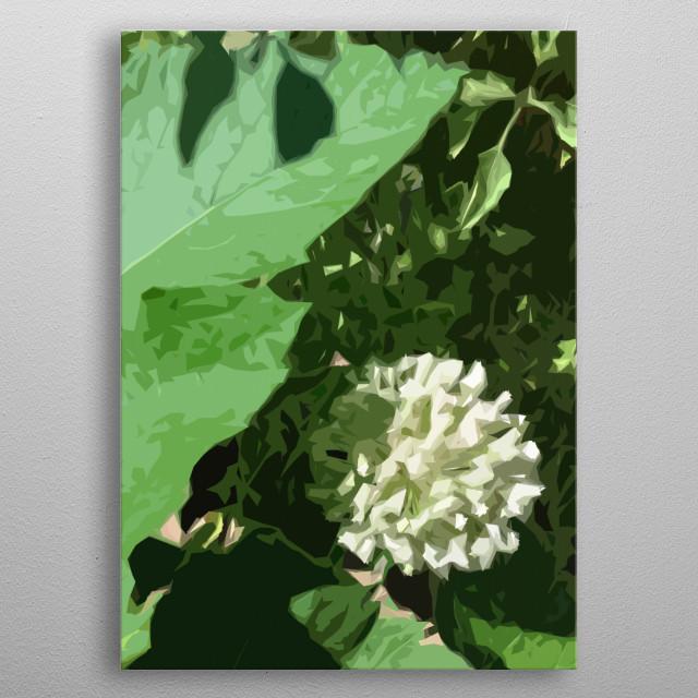 Leak Flower metal poster