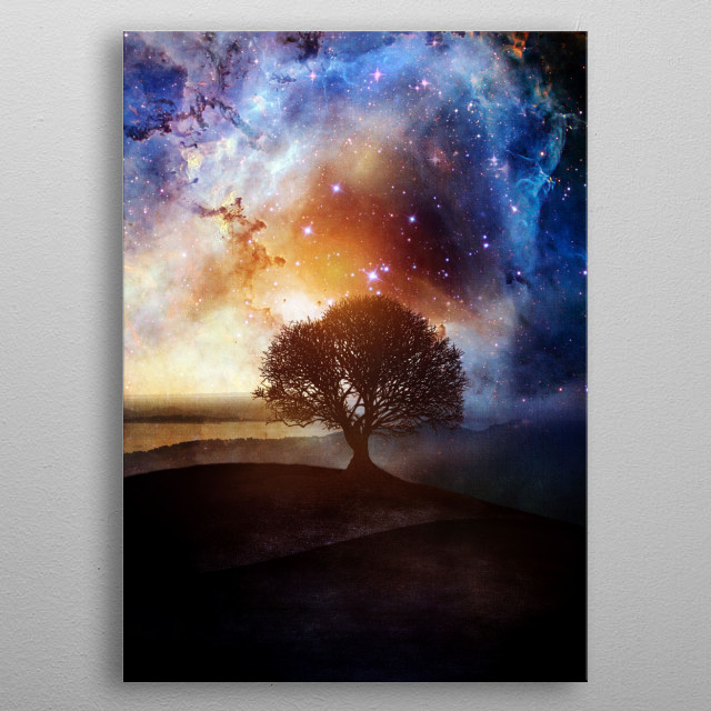High-quality metal print from amazing Space Surreal collection will bring unique style to your space and will show off your personality. metal poster
