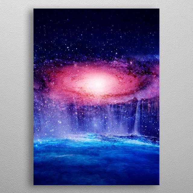 Andromeda Waterfall metal poster