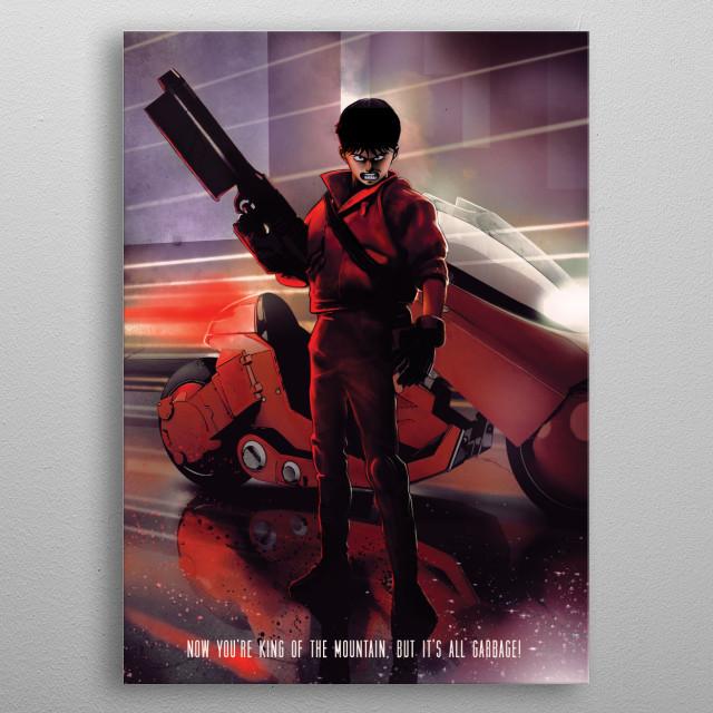 Biker metal poster