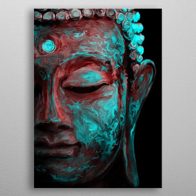 Inner Flame V2 --The way is not in the sky. The way is in the heart-- Budhha metal poster