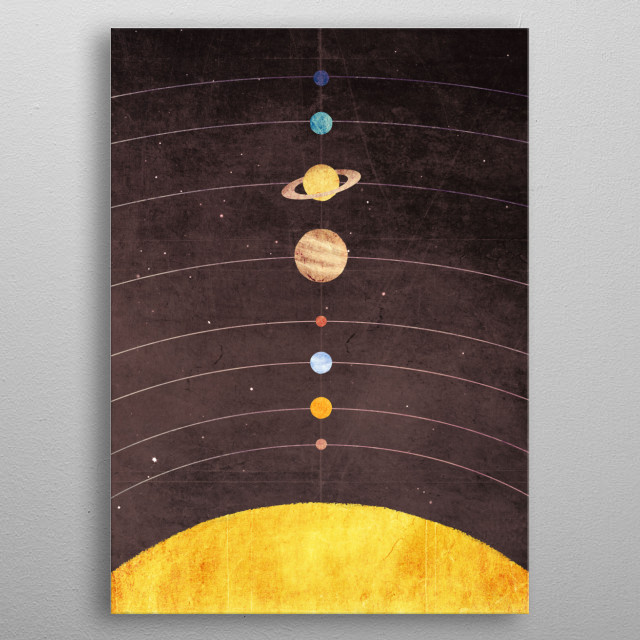 Solar System metal poster