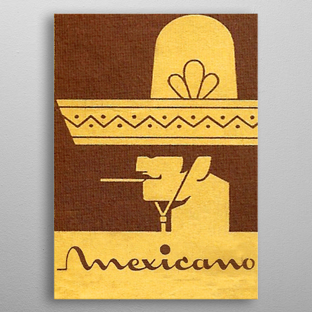 Mexicano metal poster