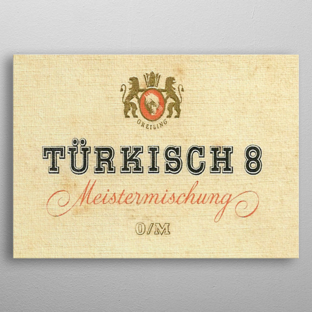 Turkisch 8 metal poster