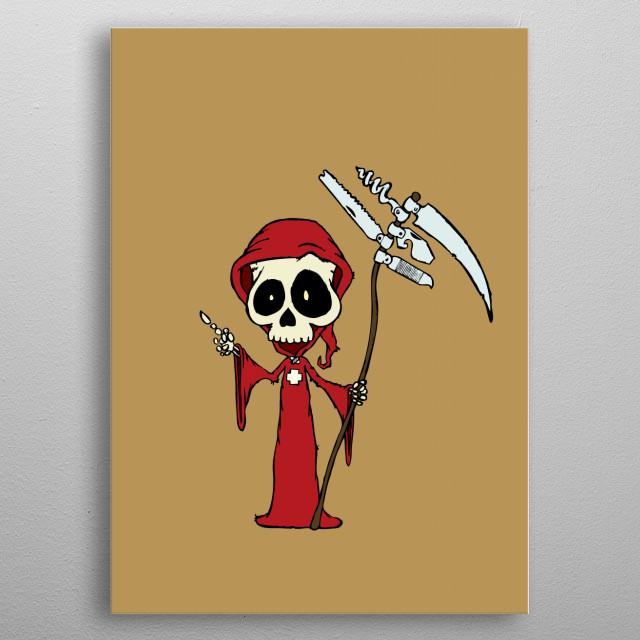 Swiss reaper metal poster