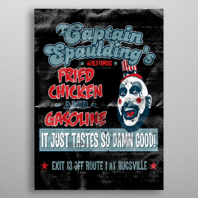 Captain Spaulding's Fried Chicken metal poster
