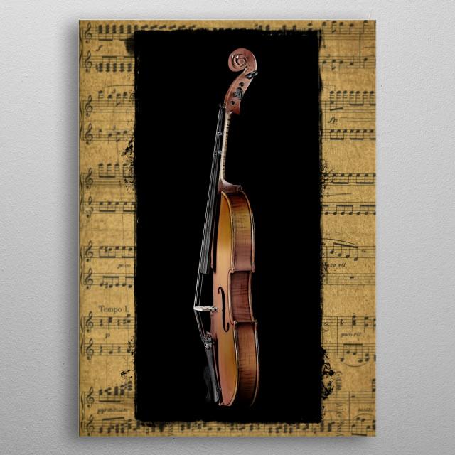 Violin Profile metal poster