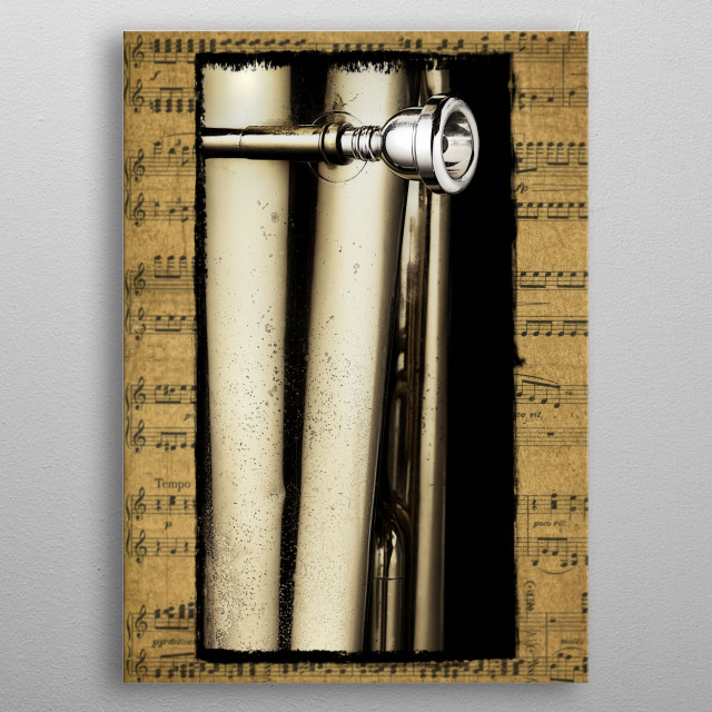 Tuba Mouthpiece metal poster
