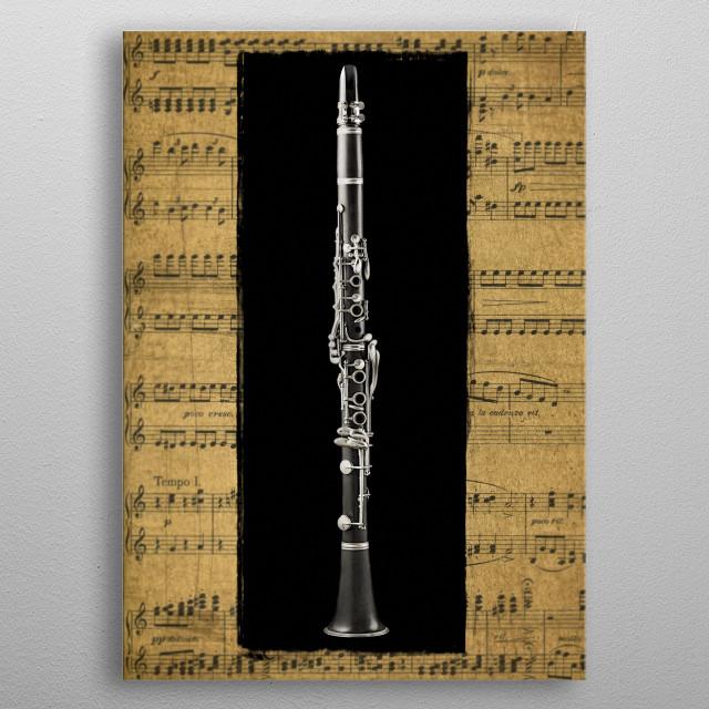 Clarinet version 2 metal poster