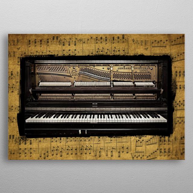 Piano 2 Version 2 metal poster