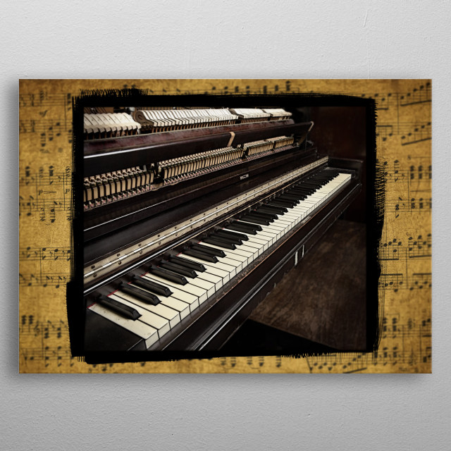 Piano One Version 2 metal poster