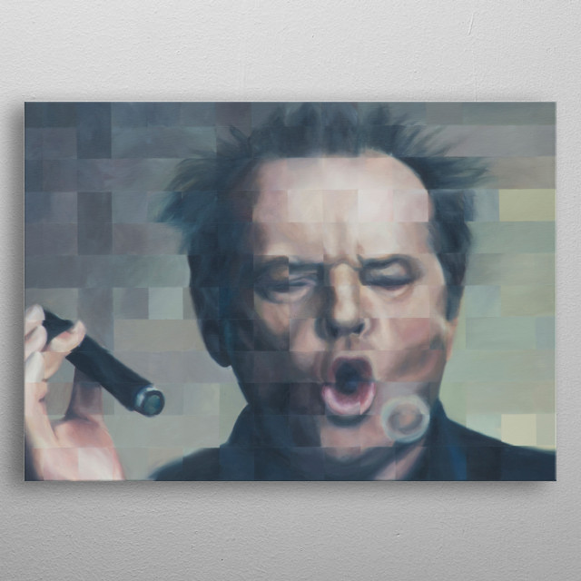 Jack Nicholson metal poster