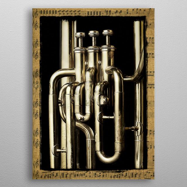 Tuba Valves metal poster