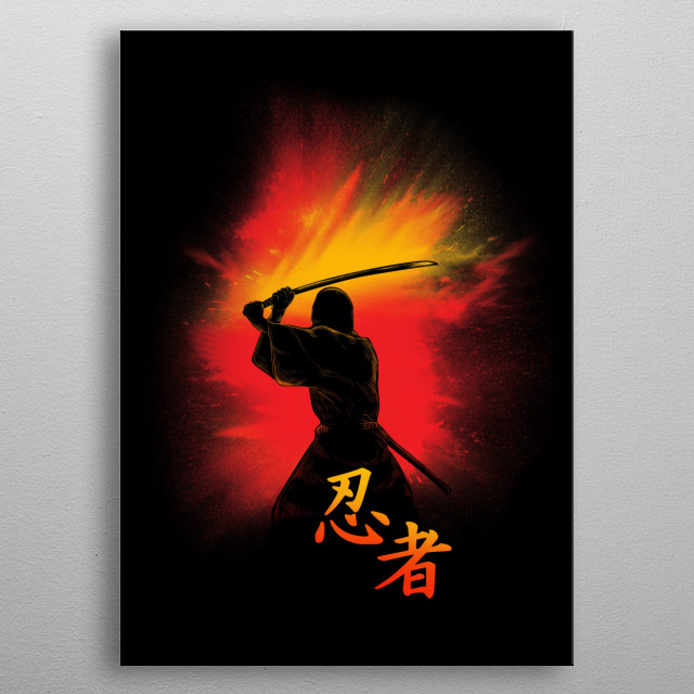 Ninja Mission metal poster