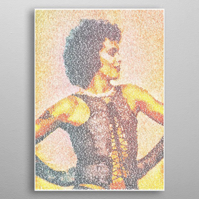 Sweet Transcript. A typographic portrait of Tim Curry as Frank N. Furter created from the transcript of The Rocky Horror Picture Show metal poster