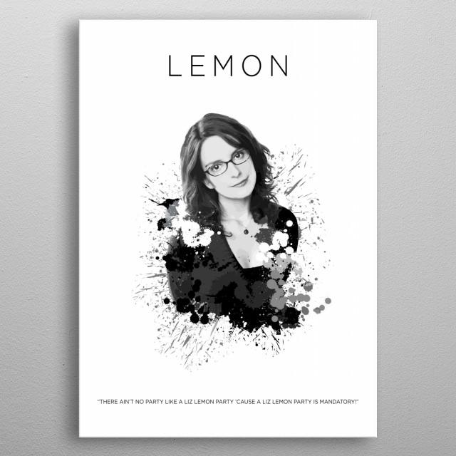Liz Lemon metal poster
