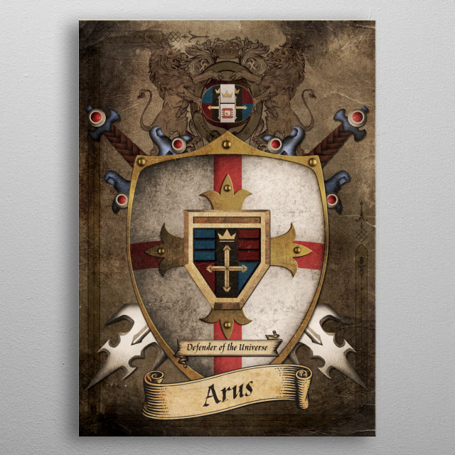 House of the Five Lions metal poster