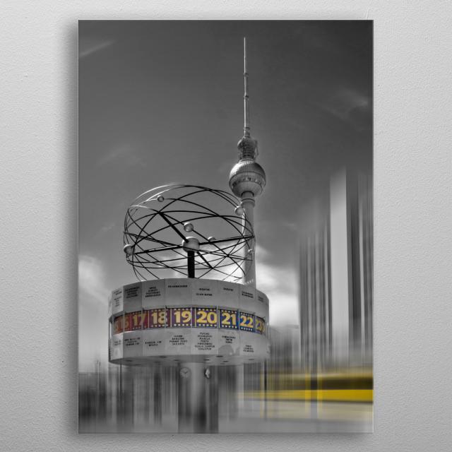 Dynamic-Art BERLIN Alexanderplatz metal poster