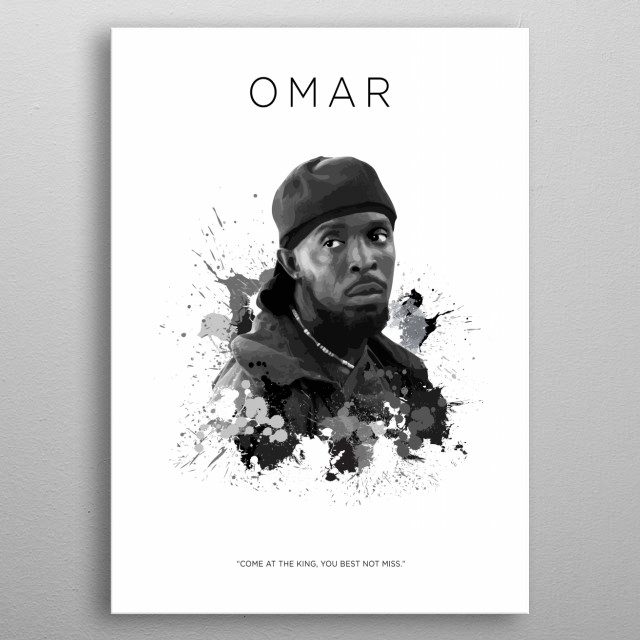 Omar Little (Special Request) metal poster