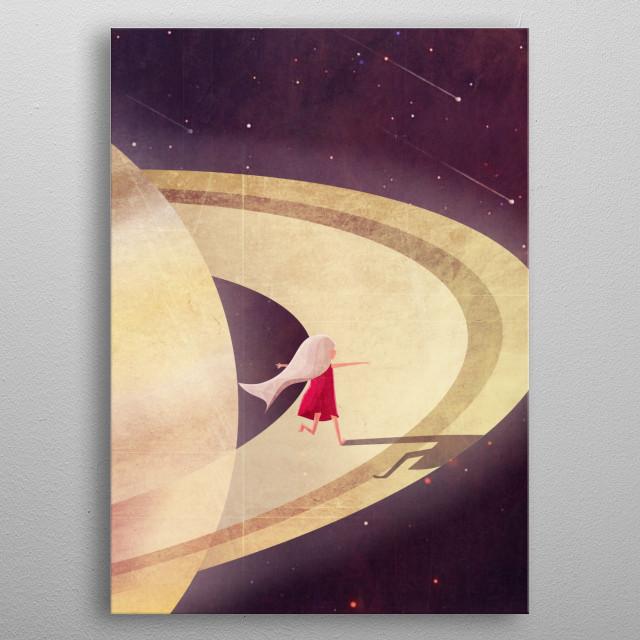 Saturn Child metal poster