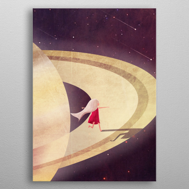 Fascinating metal poster designed by Annisa Tiara Utami. Displate has a unique signature and hologram on the back to add authenticity to each design. metal poster