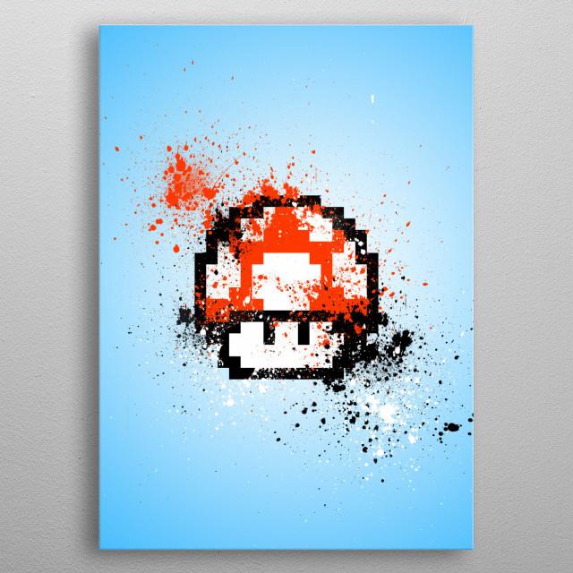 Mushroom metal poster