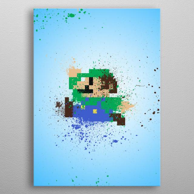 Luigi metal poster