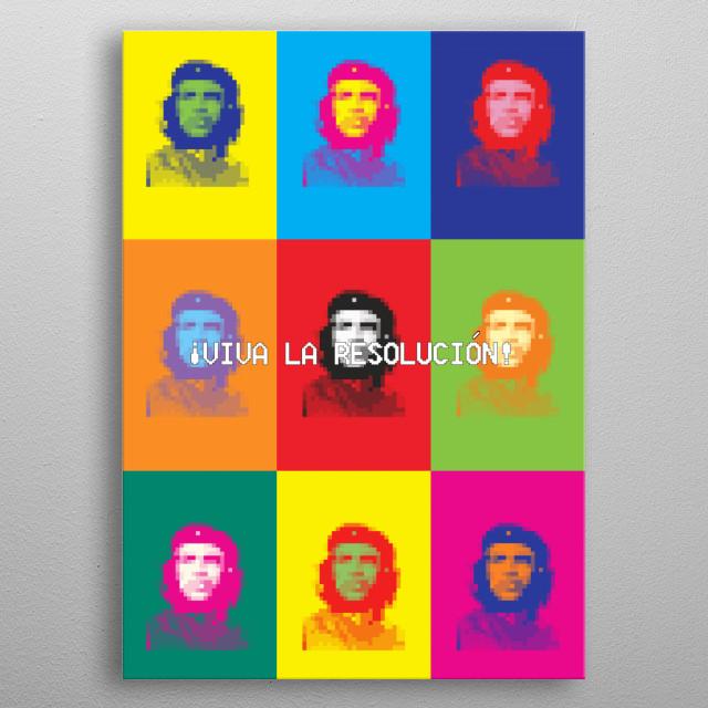 Viva la Resolución - Warhol Edition metal poster