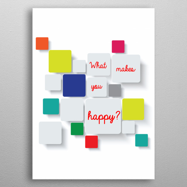 Squares of happiness metal poster