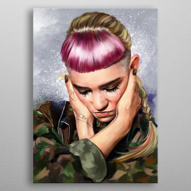 Grimes metal poster