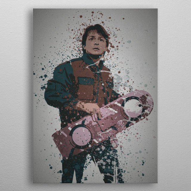 Time Traveller Splatter effect artwork inspired by Ma .... metal poster
