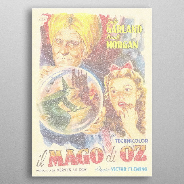 il Mago di Oz. The italian poster for The Wizard of Oz recreated from the screenplay (in English). 32,425 words in VictorianD. metal poster