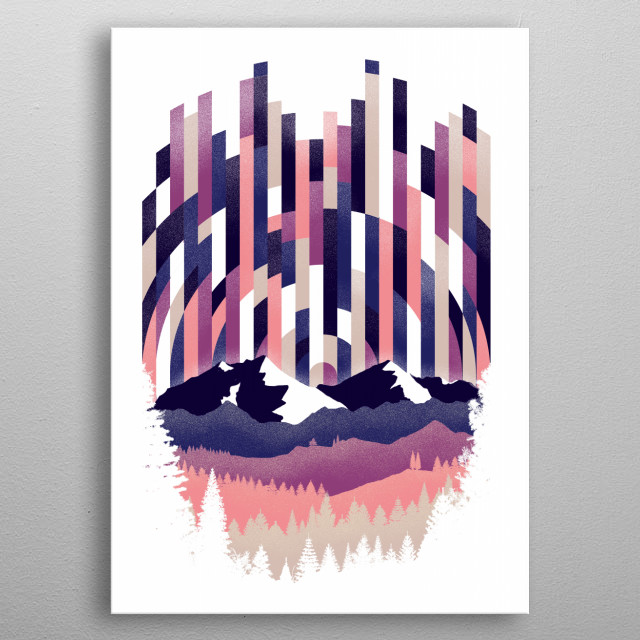 High-quality metal print from amazing Graphic Landscapes collection will bring unique style to your space and will show off your personality. metal poster