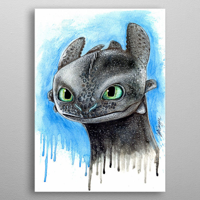Toothless metal poster