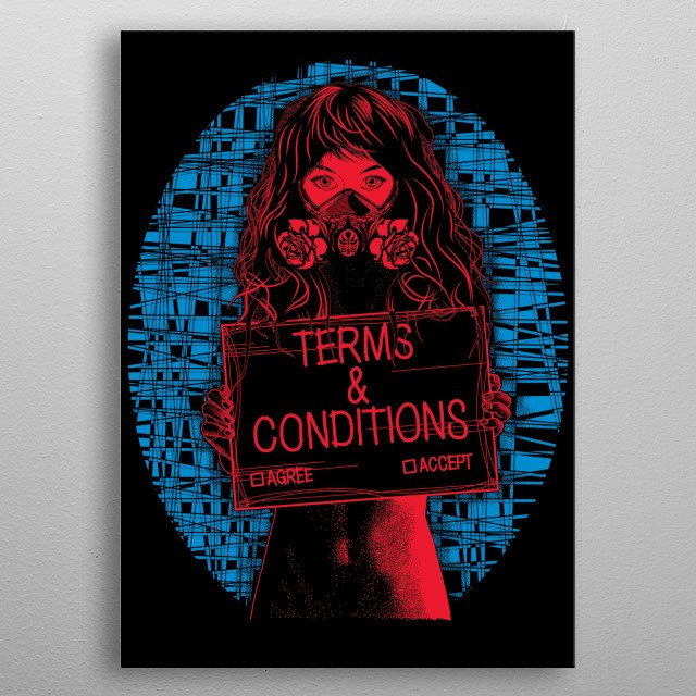 High-quality metal print from amazing Paint It Black collection will bring unique style to your space and will show off your personality. metal poster