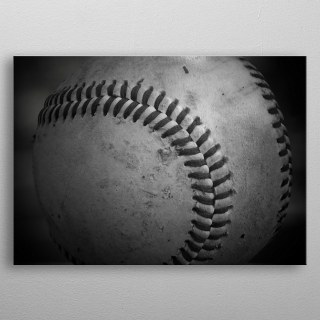 Baseball metal poster