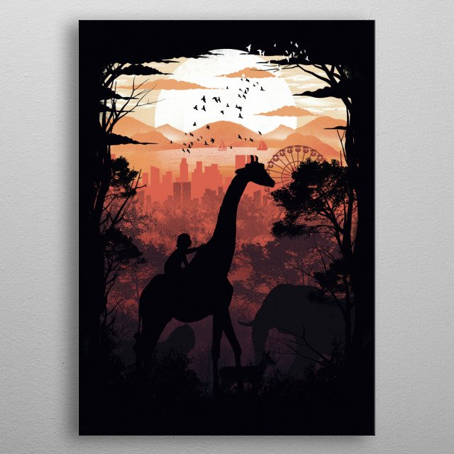 From Jungle to City metal poster