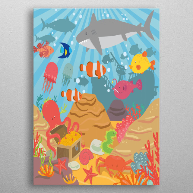High-quality metal wall art meticulously designed by petitgriffin would bring extraordinary style to your room. Hang it & enjoy. metal poster