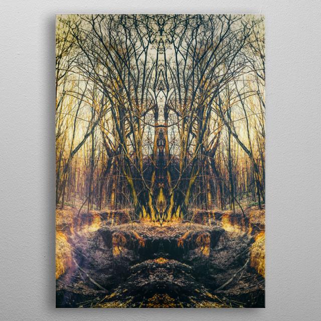 """""""Totem of the Predator"""" metal poster"""