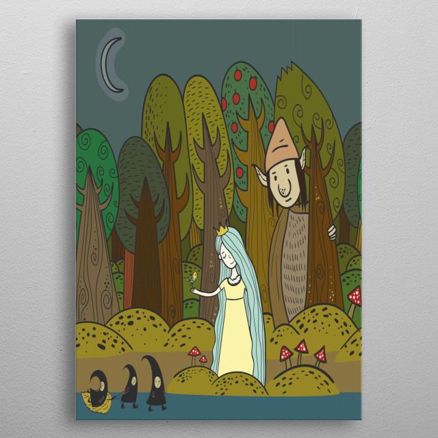 Enchanted Forrest metal poster