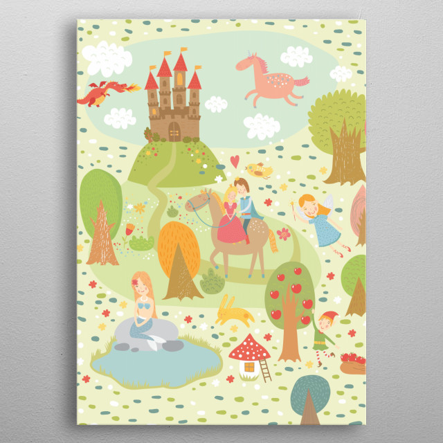 Fairy Tale for the Little Ones metal poster