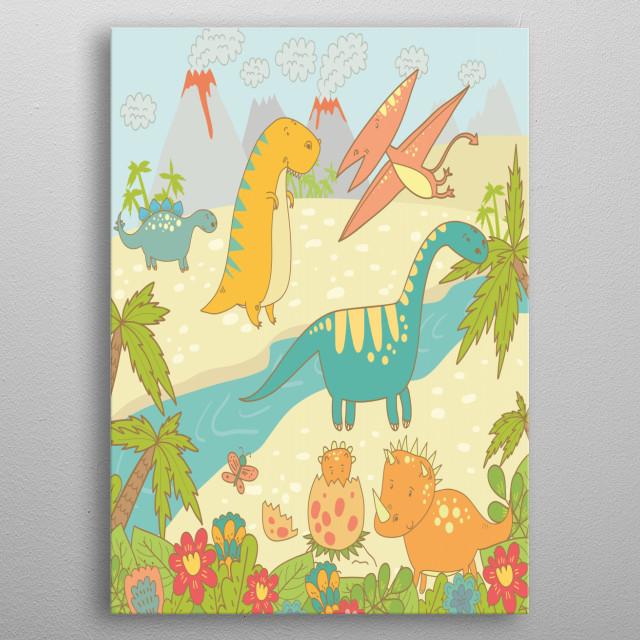 Dinosaur World metal poster